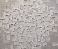 Large White Painting Abstract Textured Wall Art Urban ...