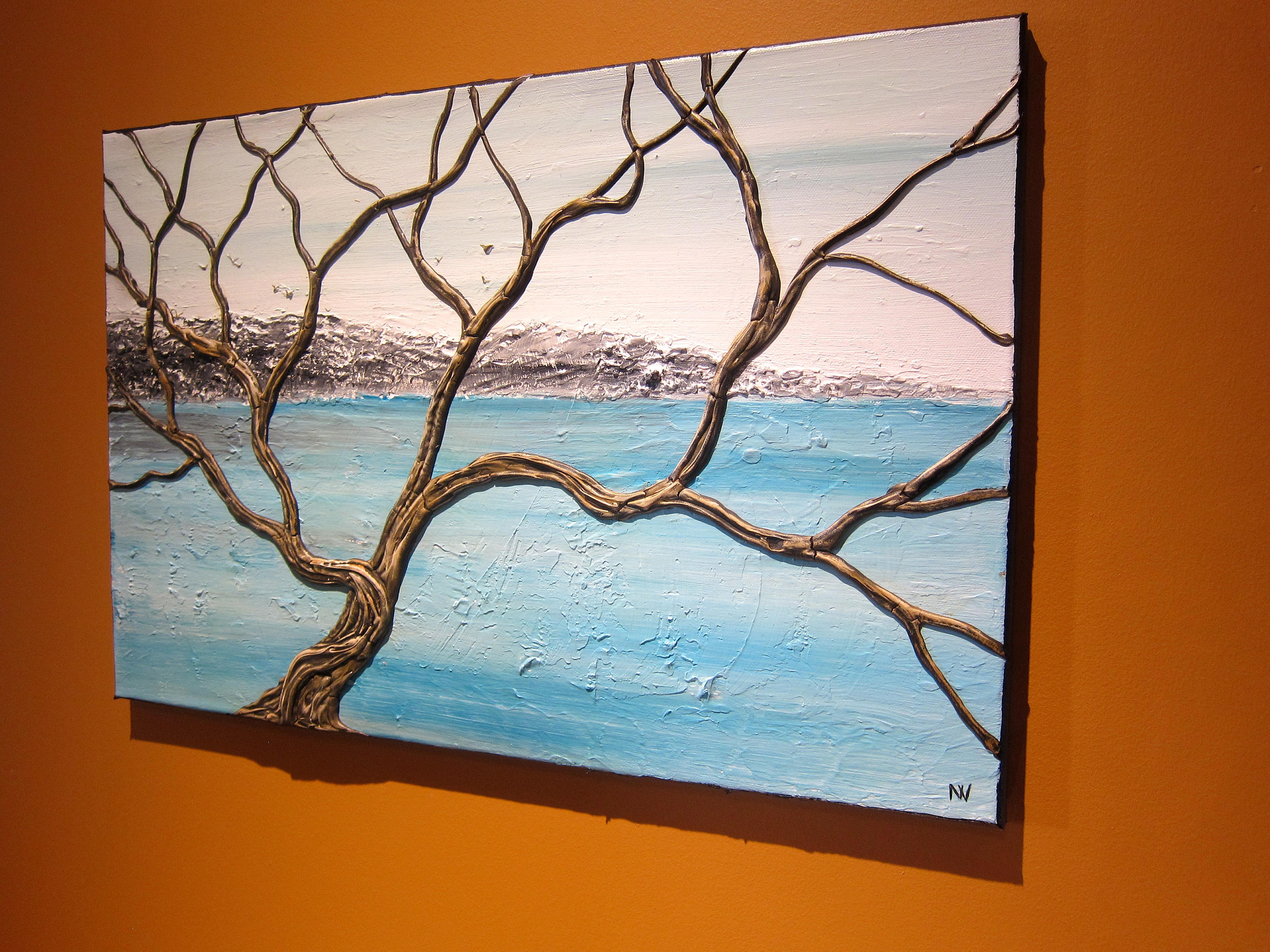 detailed textured tree painting