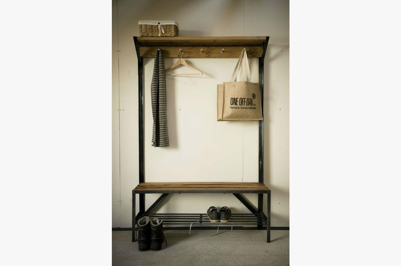 Coat Rack Bench  Bespoke, Handmade Furniture From English Oak
