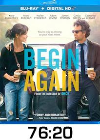 Begin Again Bluray Review