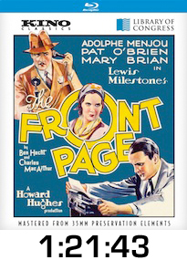 The Front Page Bluray Review