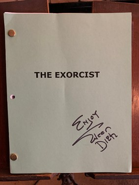 The Exorcist script signed