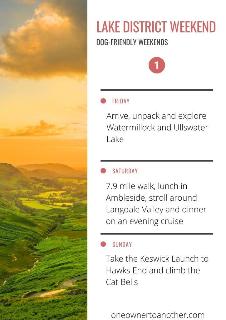 Dog-friendly Lake District Weekend Plan 1