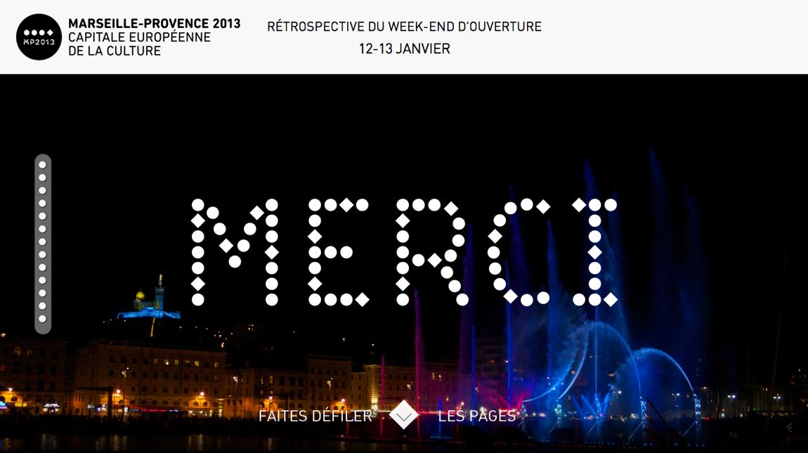 Merci – Marseille Provence 2013