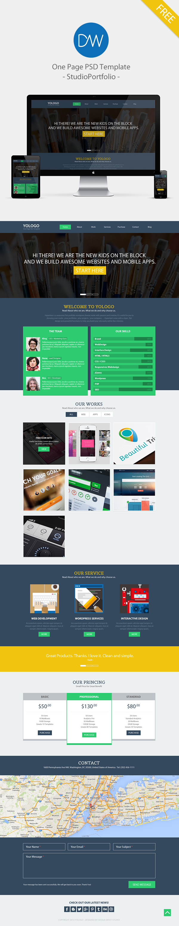 Free single page website template