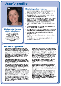 Health One Page Profiles