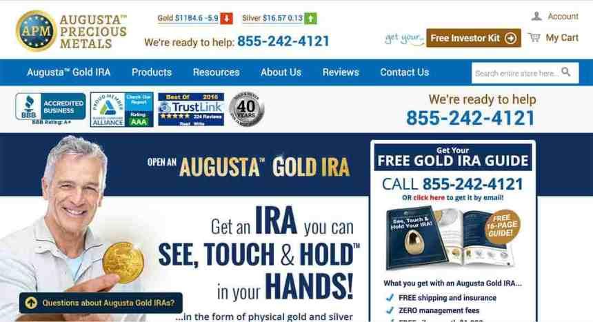 Augusta Precious Metals Website
