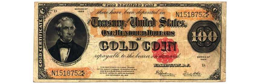 us gold certificate 1922