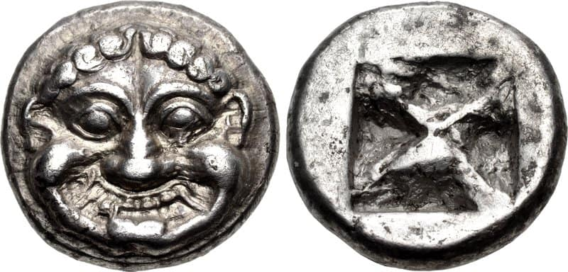greek silver coin king pheidon