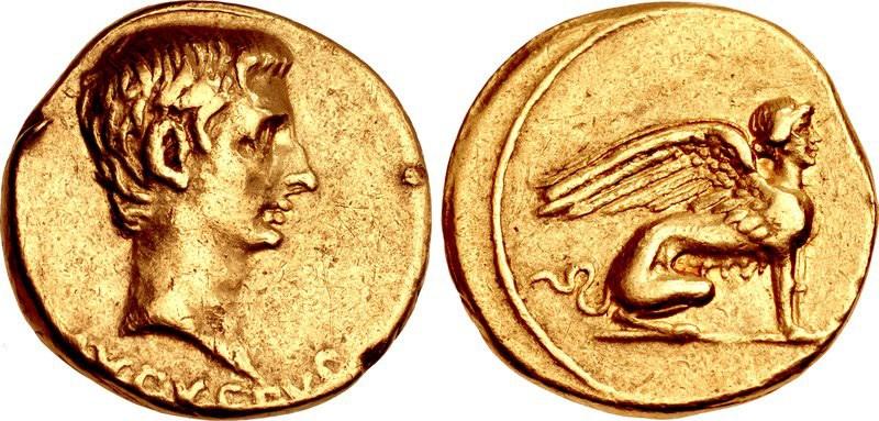 julius caesar gold coin