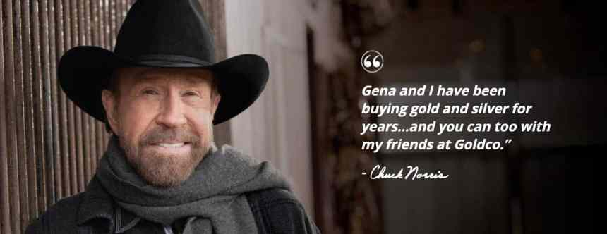 goldco chuck norris statement