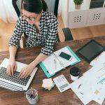 Busy woman solopreneur