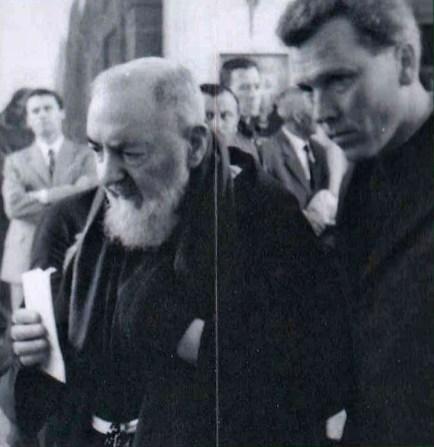 Fr. Dollinger accompanying St. Pio