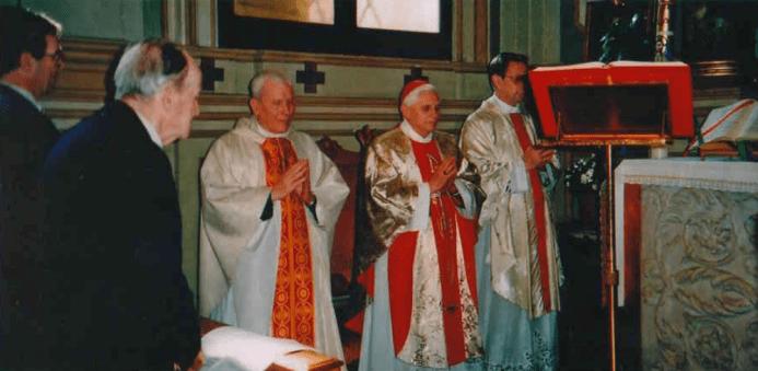 Fr. Dollinger and Cardinal Ratzinger offering Mass together