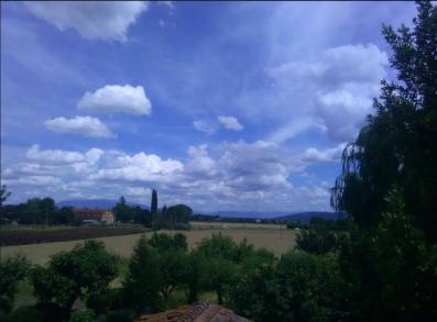 Hilary White - Italy; ten minutes after a storm hit us in May.