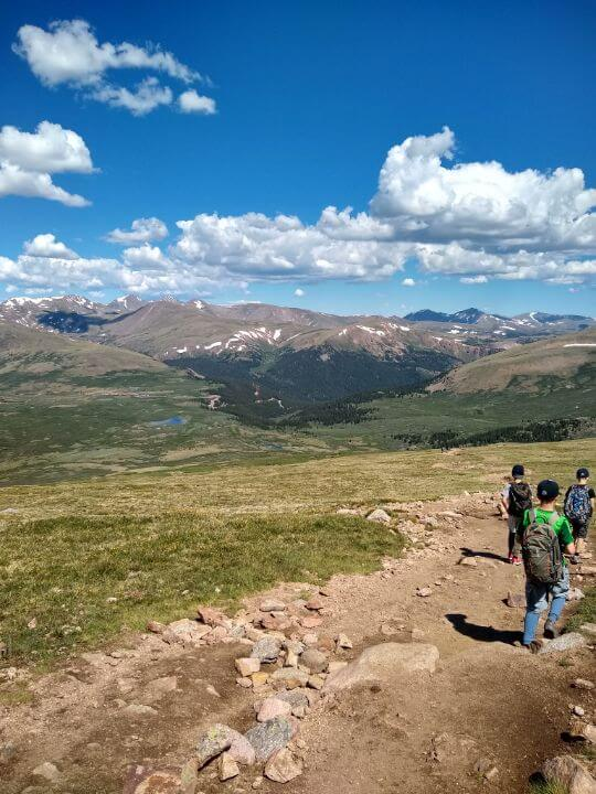 Alison - Colorado - out hiking with my boys