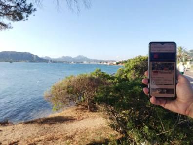 Elena, on holiday in Sardinia