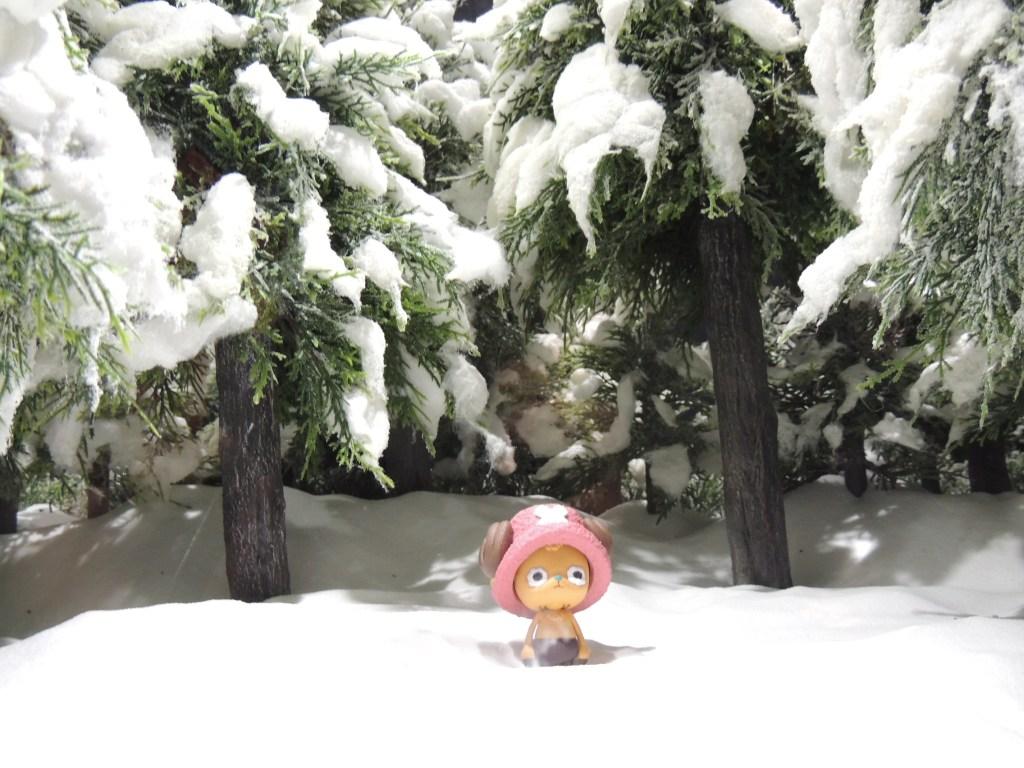 【画像レポート】プライズ ワンピース Cry heart~冬島に降る桜~ ジオラマ 雪山 ジャンフェス2014 #jumpfesta