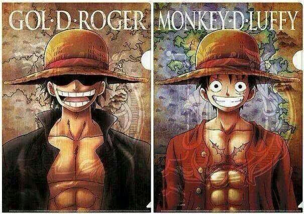 Image result for luffy and roger