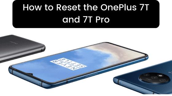 reset OnePlus 7t