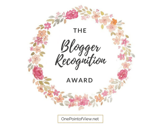 Blogger Recognition Award-OnePointofView.net