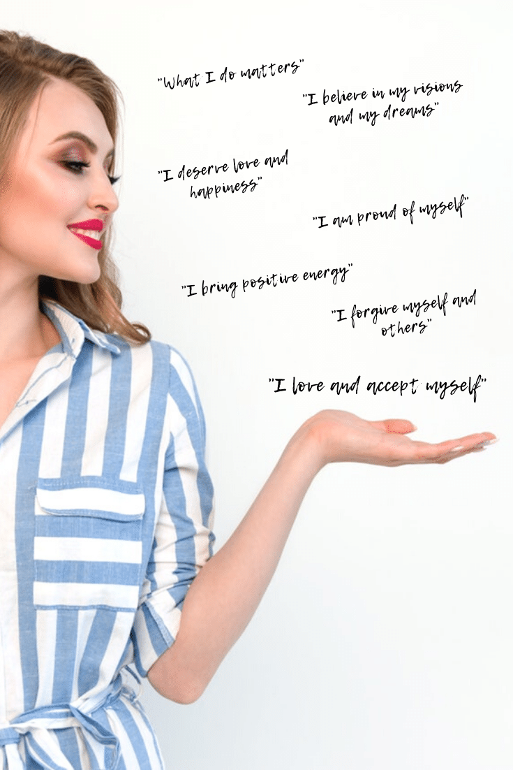 Positive affirmations for women: 7 things you should tell yourself every morning to boost your self-esteem. Free printable list of positive affirmations. #motivation #inspiration #self-esteem #confidence