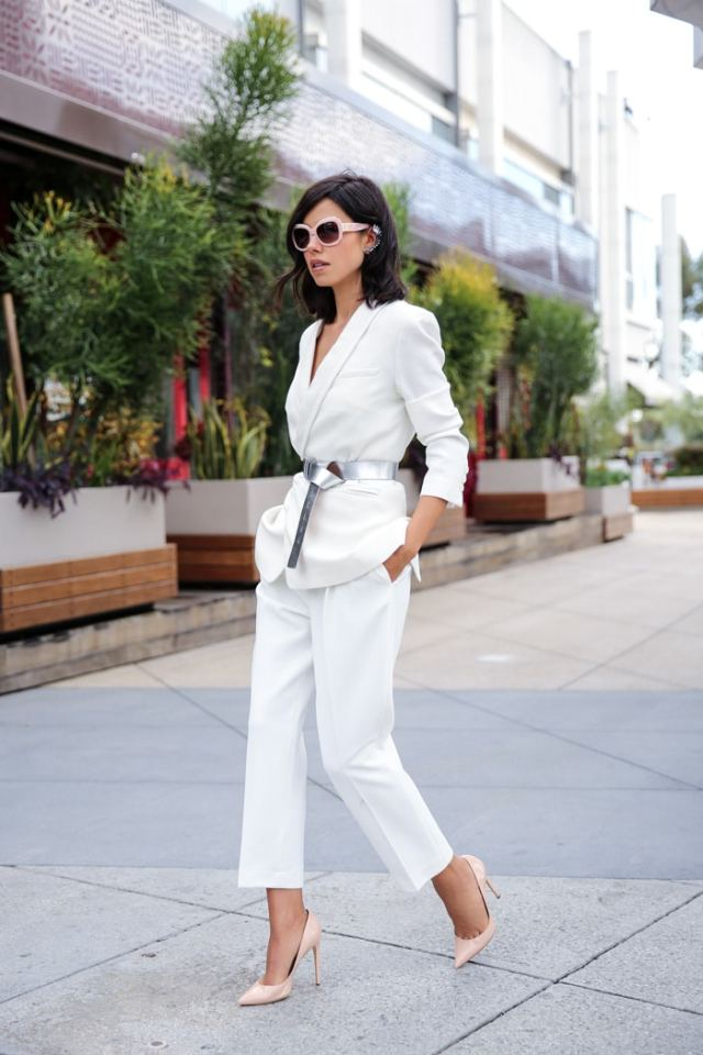 To have and to Hold:Say Hello To Spring Fashion Pieces - White Suit Women