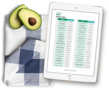 Healthy Meal Planning Recipe index