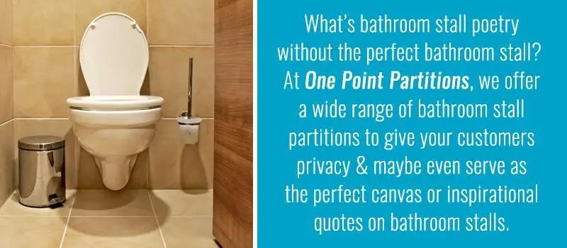 The Best Of Bathroom Stall Poetry One Point Partitions - Bathroom poetry
