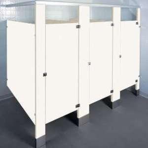 Mission White Laminate Bathroom Stalls