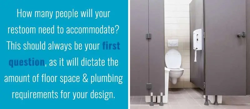 How Many People Will Your Restroom Need To Accommodate?