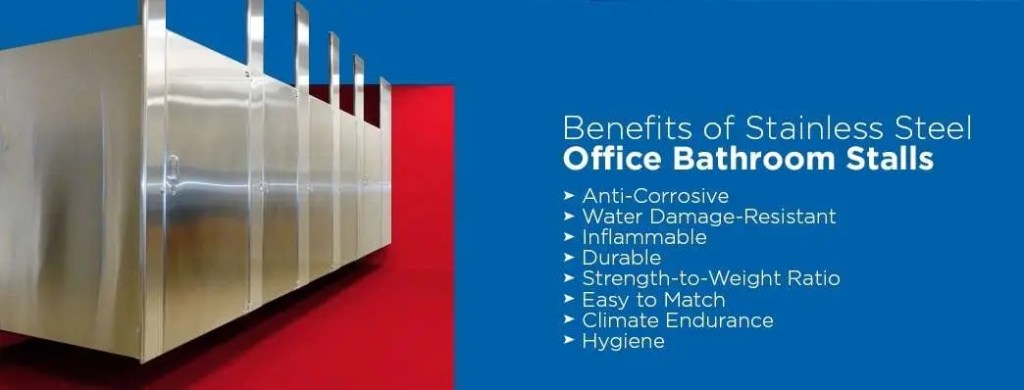 Benefits of stainless steel office bathroom stalls