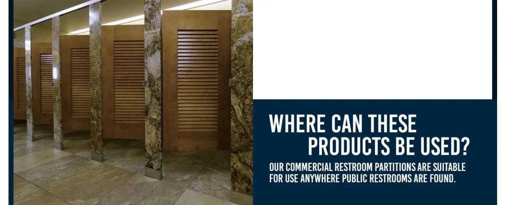 where can restroom partitions be used