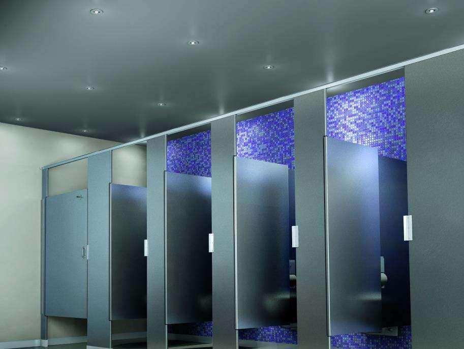 stylish commercial bathroom lighting