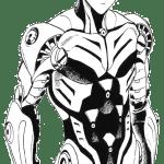 Genos Android sem roupa para colorir - Desenhos para colorir e imprimir do One Punch Man