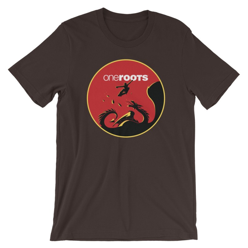 oneROOTS™ - Dragon Rider - T-Shirt - Brown