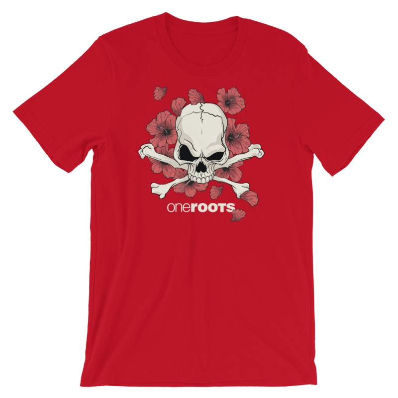 oneROOTS™ - Bones of Paradise - T-Shirt - Red