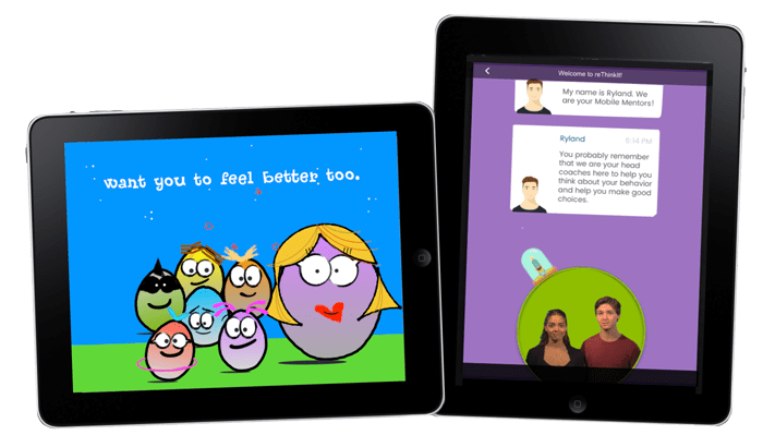iPads with Thinking App and reThinkIt