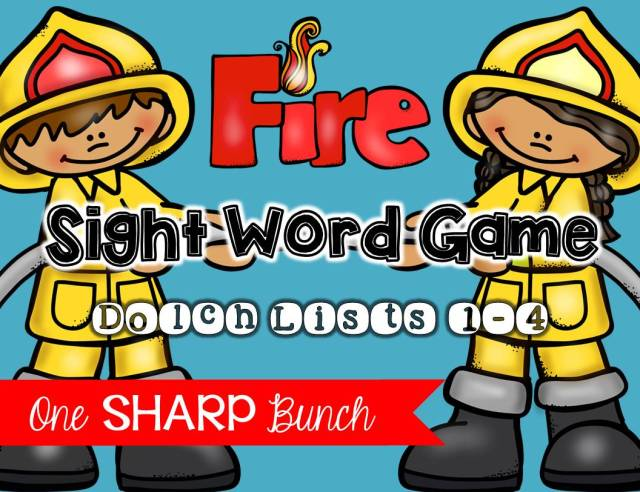 http://www.teacherspayteachers.com/Product/Fire-Safety-Sight-Word-Game-1476431