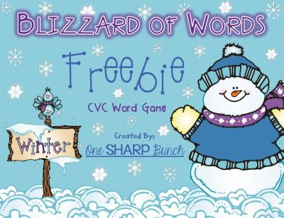 http://www.teacherspayteachers.com/Product/Winter-Blizzard-of-Words-CVC-Game-FREEBIE-496003