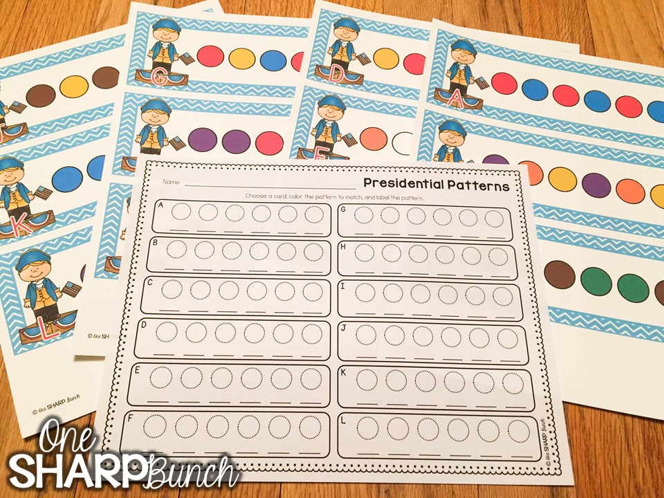 Here's a great collection of President's Day activities for kids, including President's Day crafts, Abraham Lincoln activities, ideas for patriotic math and literacy centers, and FREE George Washington printables!
