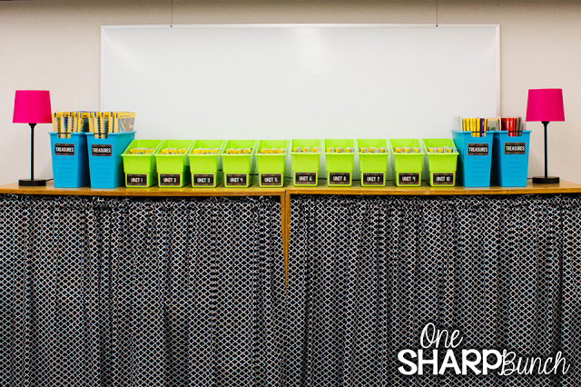 Check out this classroom reveal with the brightly colored classroom décor and the amazing classroom organization! Everything has a place! So many classroom ideas to get you organized for back to school!