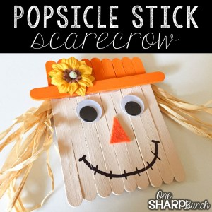 Popsicle Stick Scarecrow