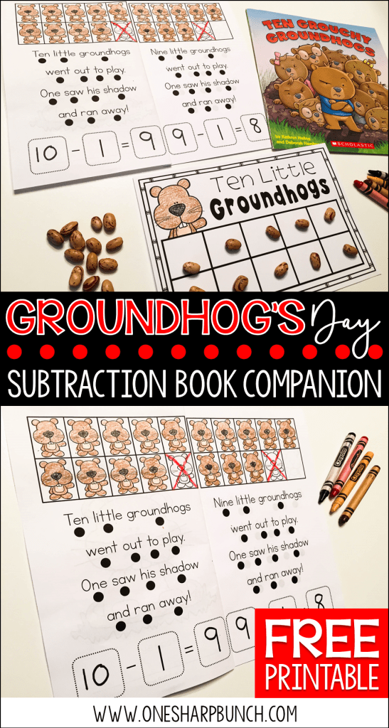 Looking for some great Groundhog's Day books and a variety of engaging Groundhog Day activities for the primary classroom?! Head on over to grab a Groundhog Day FREEBIE perfect for the story Ten Grouchy Groundhogs!