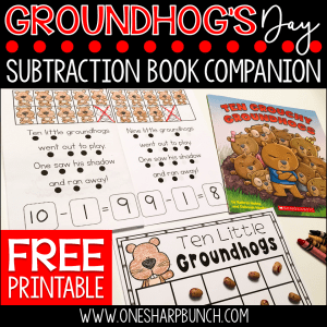 Groundhog Day Activities: Ten Grouchy Groundhogs Freebie