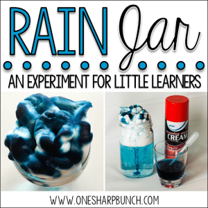 Down Comes the Rain: A Rain Experiment for Kids