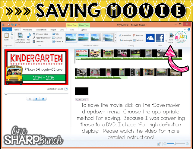 Looking for a unique end of the year student gift?! Follow this step-by-step tutorial for creating an end of the year video for your students! Simple how-to guide, featuring tips and tricks for Windows Movie Maker!