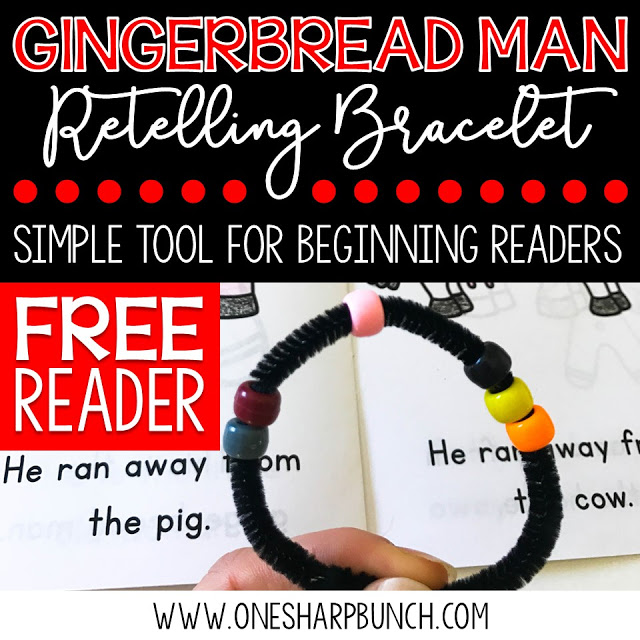 Gear up for Christmas in the classroom with this FREE Gingerbread Man emergent reader and retelling bracelet... the perfect addition to your Gingerbread Man activities and Christmas activities!