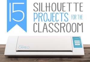 Looking for some classroom DIY ideas that you can create with your Silhouette Cameo?!  Head on over to check out these back to school silhouette projects, classroom décor designs and classroom organization ideas!  Plus, learn how to cut letters for your bulletin board using any font from your computer and your Cameo!