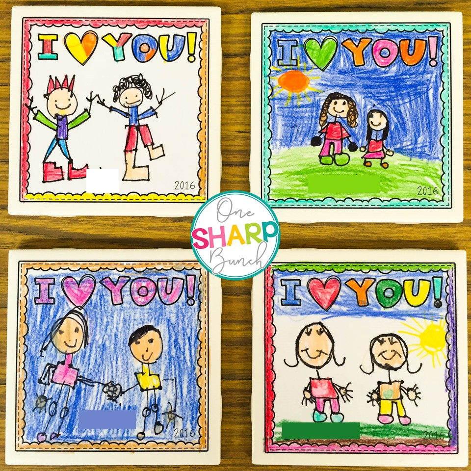 Mothers fathers day diy tile coasters one sharp bunch diy tile coasters make the perfect mothers day gift or fathers day gift from kids solutioingenieria Choice Image